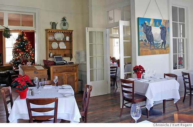 The dining room at the Olima Inn .  The Olema Inn, one of the Bay Area�s most historic buildings and home of one of the region�s best restaurants, is for sale.  FRIDAY, DECEMBER 22, 2006 KURT ROGERS/THE CHRONICLE OLEMA THE CHRONICLE  SFC OLWMA21_0109_kr.jpg MANDATORY CREDIT FOR PHOTOG AND SF CHRONICLE / -MAGS OUT Photo: KURT ROGERS/THE CHRONICLE