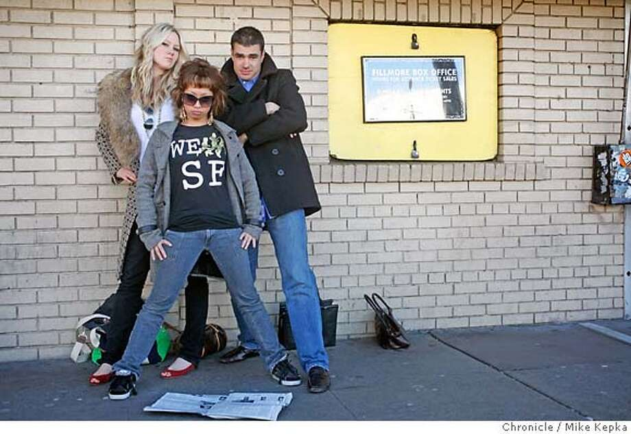 MTV reality show cast members, Krystal Simpson, Krishtine de Leon and Russell Morse ,show viewers how they tried to get jobs at Rolling Stone Magazine.  12/28/06.  Mike Kepka / The Chronicle Krystal Simpson, Krishtine de Leon and Russell Morse (cq) the source Ran on: 12-31-2006  Krystal Simpson (left), Krishtine de Leon and Russell Morse, all of the Bay Area, in New York working at Rolling Stone. Unlike in many reality shows, these contestants support each other. Photo: Mike Kepka