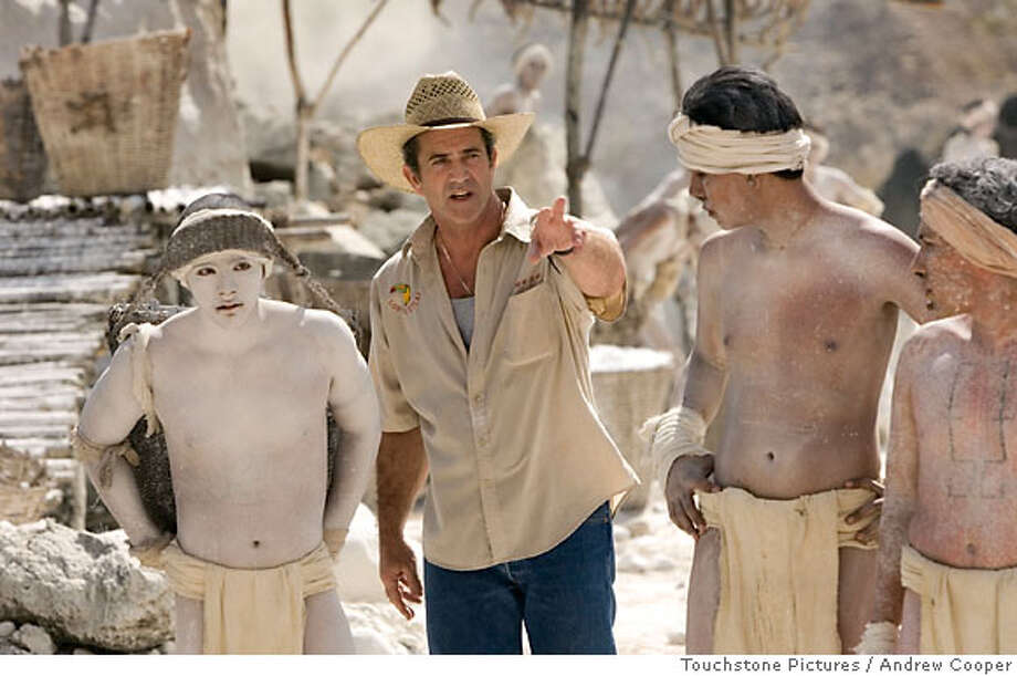 """Director Mel Gibson (C) is shown with cast members on the set of his new film """"Apocalypto"""" in this undated publicity photograph. The film received a Golden Globe nomination on December 14, 2006 for best foreign language film, and is about the Maya kingdom as it faces its decline. NO ARCHIVES REUTERS/Andrew Cooper/Icon Distribution, Inc./Handout. NO ARCHIVES. NO THIRD PARTY SALES. NOT FOR USE BY REUTERS THIRD PARTY DISTRIBUTORS.  Ran on: 12-31-2006  Mel Gibson: likable, but he's not running for president. Photo: HO"""