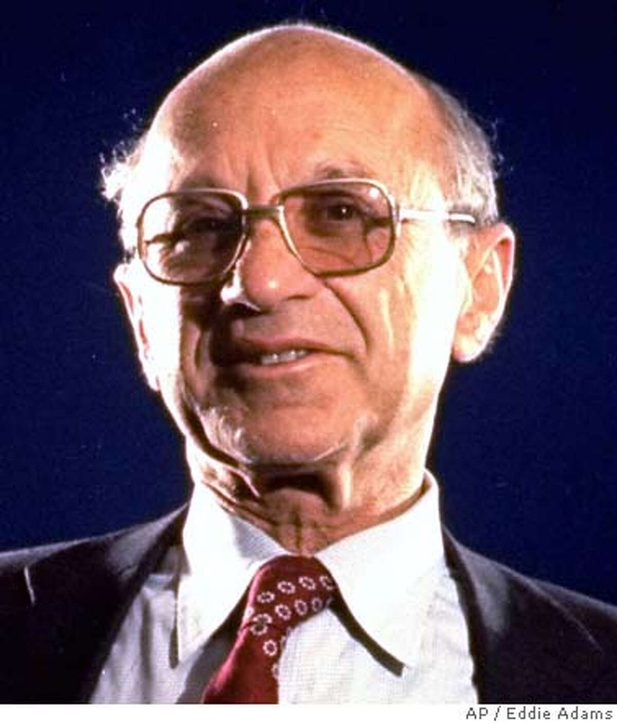 ** FILE ** Dr. Milton Friedman who won the 1976 Nobel Prize for economics poses for a photo in a 1977 file photo. Friedman has died at age 94, a spokesman for the Milton & D. Rose Friedman foundation says. (AP Photo/Eddie Adams, File) Ran on: 11-17-2006 Milton Friedman won the 1976 Nobel Prize in economics for his work on the link between monetary policy and inflation. Ran on: 11-17-2006 Milton Friedman won the 1976 Nobel Prize in economics for his work on the link between monetary policy and inflation. 1977 FILE PHOTO