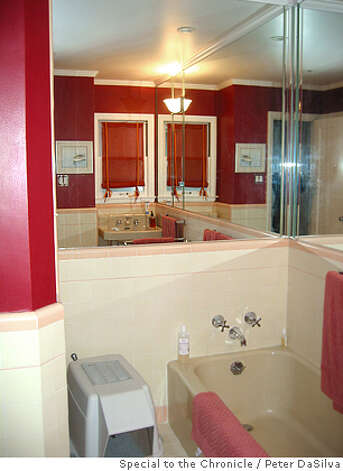 Before photographs of a newly remodeled bathroom in the San Francisco flat of Jean & Julian Ray. Photo: Handout