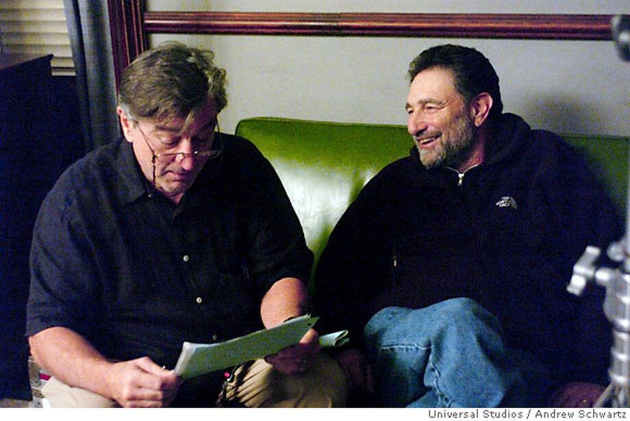 "Director Robert De Niro and writer Eric Roth on the set of ""The Good Shepherd"" Photo: Universal Studios"
