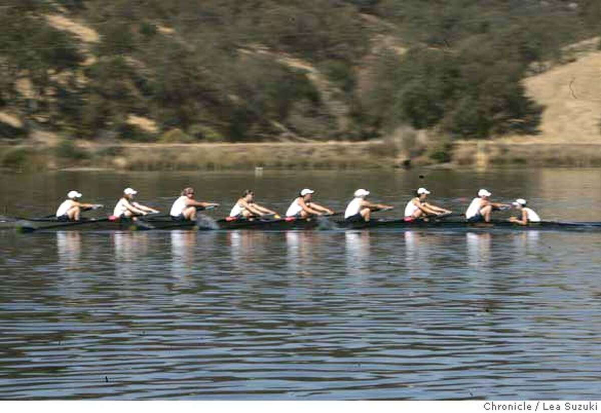 maraallen_446_ls.JPG The Cal Berkeley Womens Crew heads toward the finish at the Head of the American regatta. Mara is second from right. Mara Allen prepares and races in Sacramento at the Head of the American regatta on Saturday October 28, 2006. Photo by Lea Suzuki/The San Francisco Chronicle Photo taken on 10/28/06, in Sacramento, CA. **(themselves) cq. MANDATORY CREDIT FOR PHOTOG AND SAN FRANCISCO CHRONICLE/ -MAGS OUT