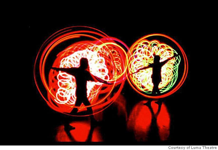 """Luma"" incorporates a variety of items to show light, including phosphoresce, incandescence, LED and chemical luminescence. Photo courtesy of the Luma Theatre Photo: Luma Theatre"