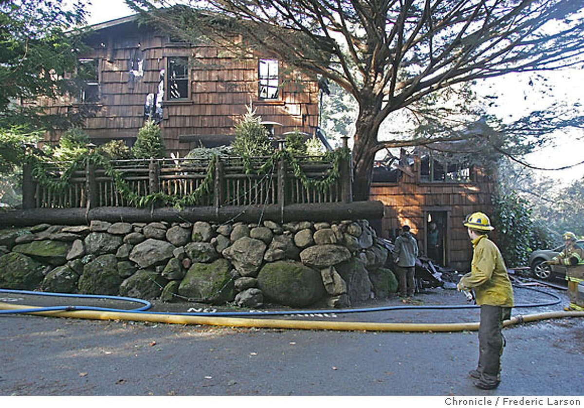 A fire destroyed Manka's Inverness Lodge early this morning, Marin County fire officials said. The well known lodge and restaurant, located about 10 miles north of Point Reyes Station, caught fire sometime before 2:45 a.m., said Marin County Fire Battalion Chief Mike Giannini. Eight guests staying at the lodge were evacuated without injuries, he said.