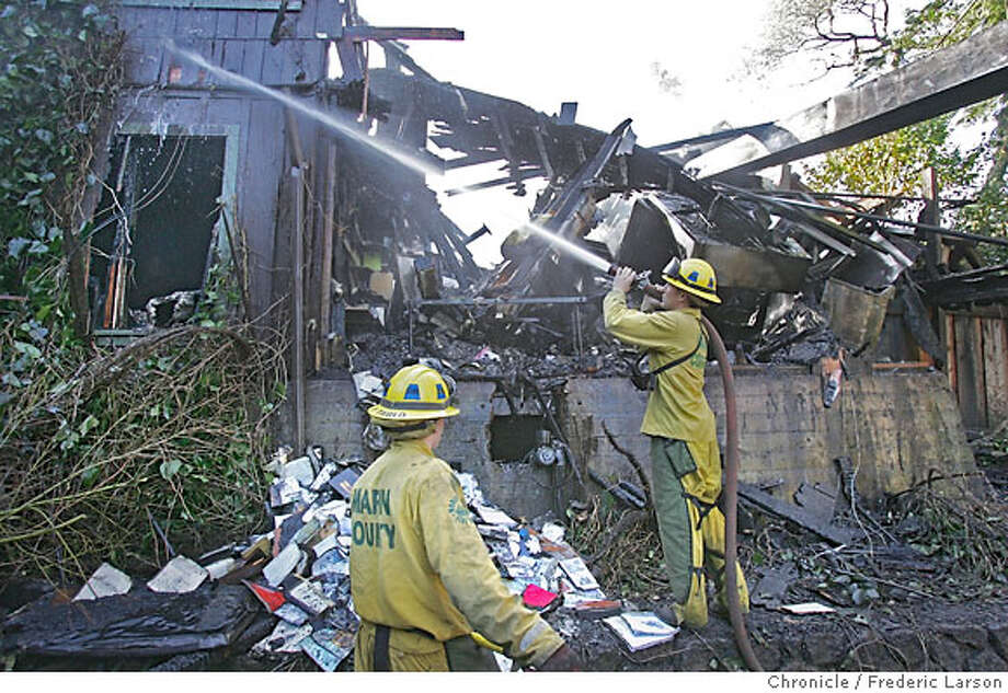 """A fire destroyed Manka's Inverness Lodge early this morning, Marin County fire officials said. The well known lodge and restaurant, located about 10 miles north of Point Reyes Station, caught fire sometime before 2:45 a.m., said Marin County Fire Battalion Chief Mike Giannini. Eight guests staying at the lodge were evacuated without injuries, he said. """"The lodge is gone, basically, and the restaurant is destroyed,"""" Giannini said. """"It's going to have to be completely rebuilt."""" The cause of the fire is under investigation, but a tree that was knocked into the rear of the lodge by high winds last night could have caused the blaze, Giannini said. The lodge is famous for its bed and breakfast and it restaurant, which features a fixed price menu that changes daily. The owner and chef is Margaret Grade. Prince Charles and Camilla, Duchess of Cornwall, stayed at the lodge during a trip to California in November 2005.  12/27/06  {Photographed by } Photo: Frederic Larson"""