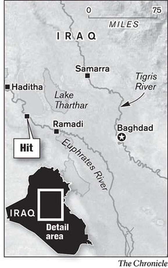 Hit, Iraq. Chronicle Graphic Photo: John Mavroudis