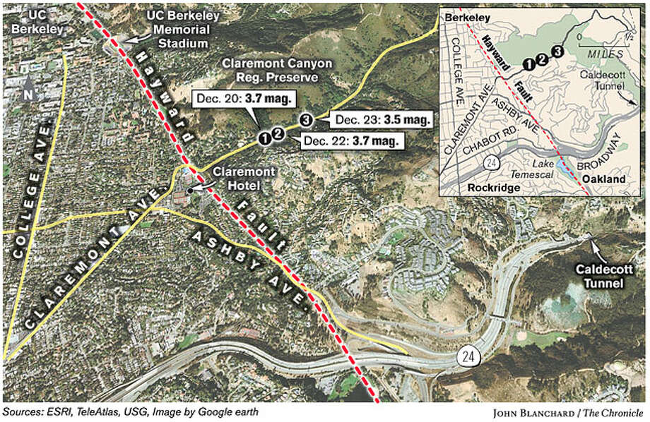 Hayward Fault. Chronicle graphic by John Blanchard