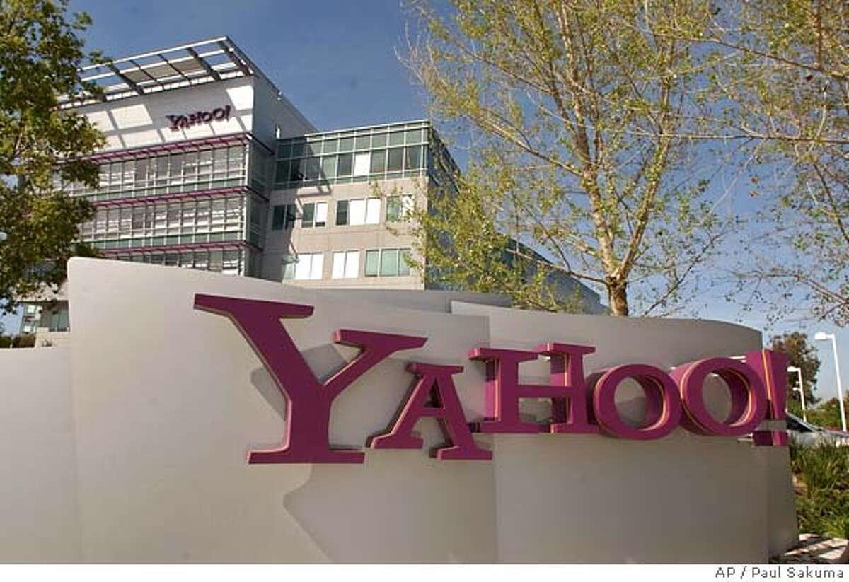 ** FILE ** Yahoo! Inc., headquarters in Sunnyvale, Calif., are shown Thursday, March 18, 2004. The company said Wednesday, July 7, 2004, that it earned $112.5 million, or 8 cents per share, up from $50.8 million, or 4 cents per share, at the same time last year.(AP Photo/Paul Sakuma) Ran on: 07-08-2004