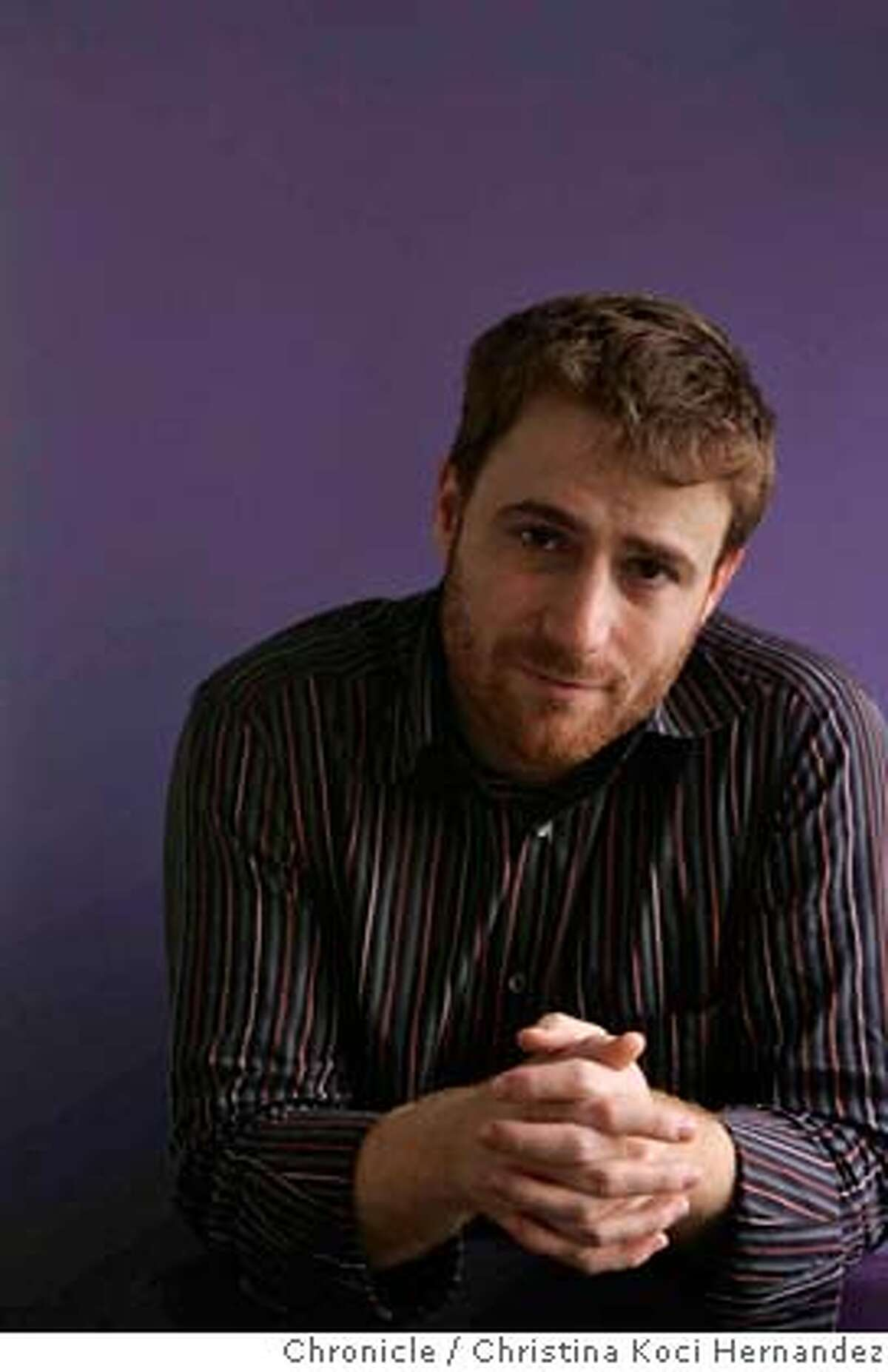 Stewart Butterfield is one of the founders of Flickr, the photo sharing Web site. Story is about how Yahoo is under pressure to improve its business and reorganize, and is looking to the startups it has acquired over the past 18 months to impart some wisdom about the latest online innovations. Stewart is one of the key guys in that strategy.(CHRSTINA KOCI HERNANDEZ/CHRONICLE) CHRONICLE Photos by CHRISTINA KOCI HERNANDEZ