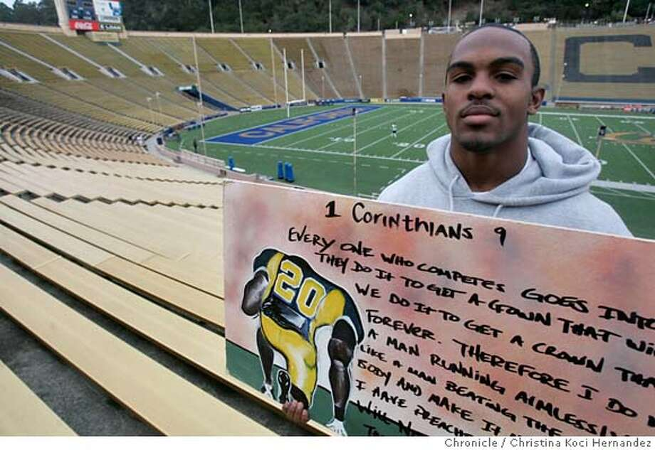 Feature photos of Daymeion Hughes, Cal defensive back. Not only is he a college football all-american, he's a good artist.(CHRSTINA KOCI HERNANDEZ/CHRONICLE) CHRONICLE Photos by CHRISTINA KOCI HERNANDEZ Photo: CHRISTINA KOCI HERNANEZ/CHRONICL