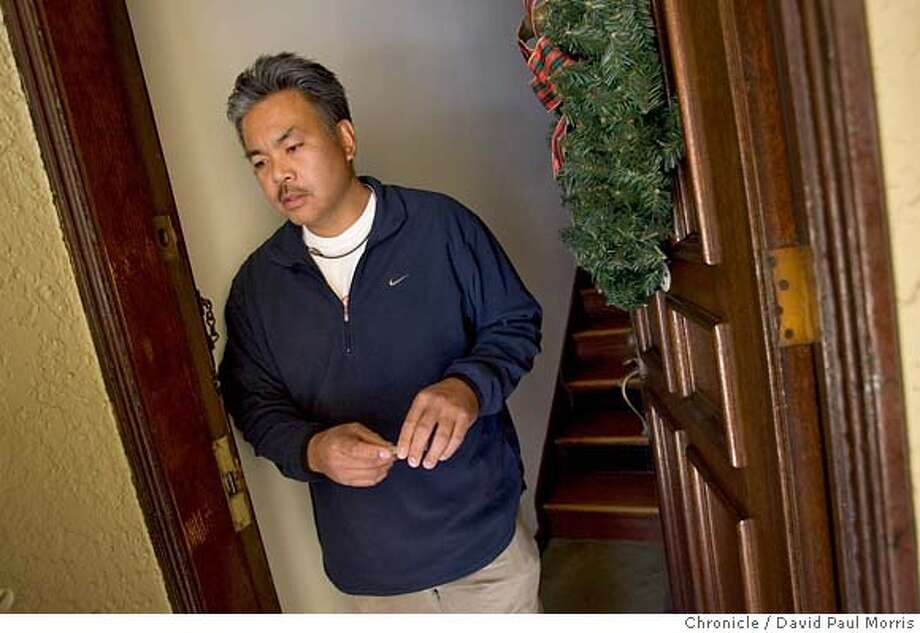 SAN FRANCISCO, CA- DECEMBER 23: Rafael Labutan Jr, a San Francisco police officer and the father-in-law of slain San Francisco police officer Bryan Tuvera, speaks to the Chronicle at his home on December 23, 2006 in San Francisco, California. (Photo by David Paul Morris/The Chronicle) Photo: David Paul Morris