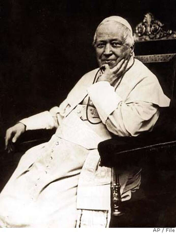 FILE - An undated photo of Pope Pius IX. Pope Giovanni Mastai Ferretti, who reigned from 1846 to 1878 in an history longest papacy will be beatified in a twin ceremony at the Vatican September 3, 2000, with 1958-63 Pope John XXIII. (AP Photo) UNDATED B/W FILER Photo: Ho