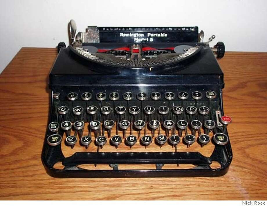 A vintage 1930s Remington typewriter. Photo by Nick Rood