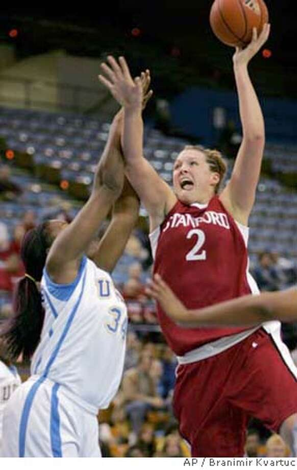 Stanford's Jayne Appel shoots over UCLA's Moniquee Alexander during the first half of a college basketball game in Los Angeles on Friday, Dec. 22, 2006. (AP Photo/Branimir Kvartuc) EFE OUT Photo: Branimir Kvartuc