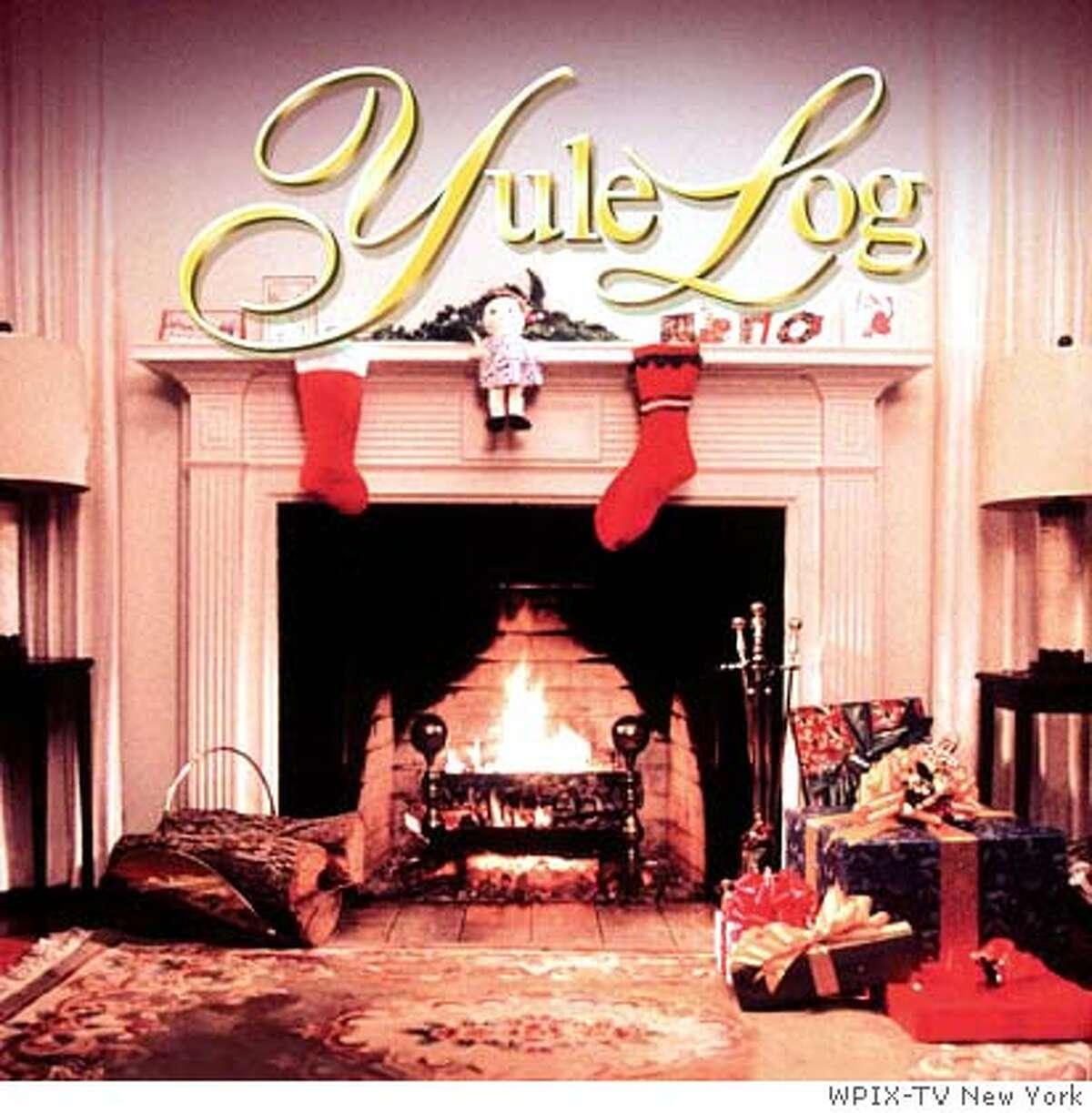 A photo of the original WPIX Yule Log. Courtesy of WPIX-TV New York