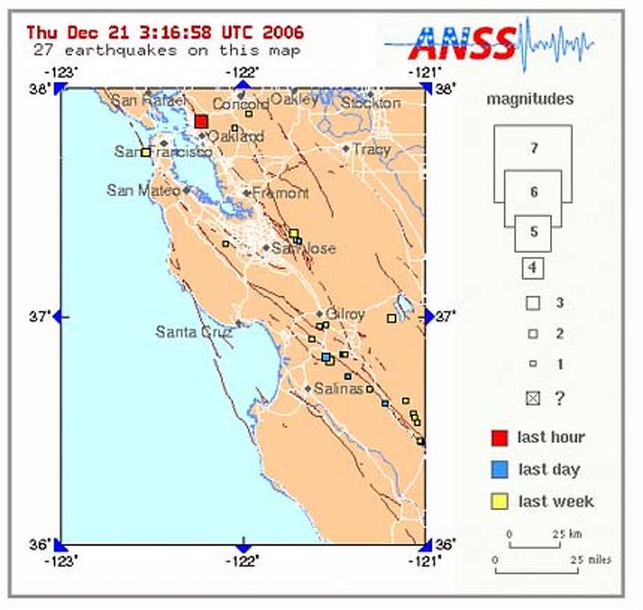 According to The USGS, a 3.7 Magnitude earthquake struck 2 miles East/South-East of Berkeley, Ca. at 7:12pm