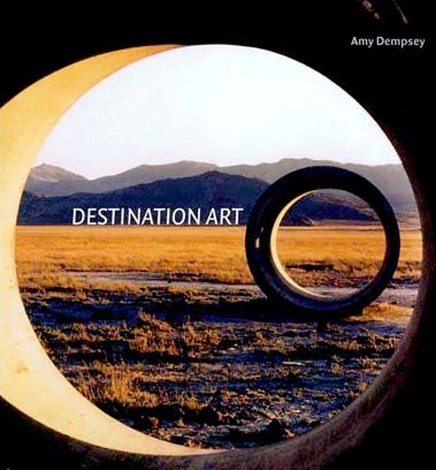 "�Book cover art for, ""Destination Art"" by Amy Dempsey."