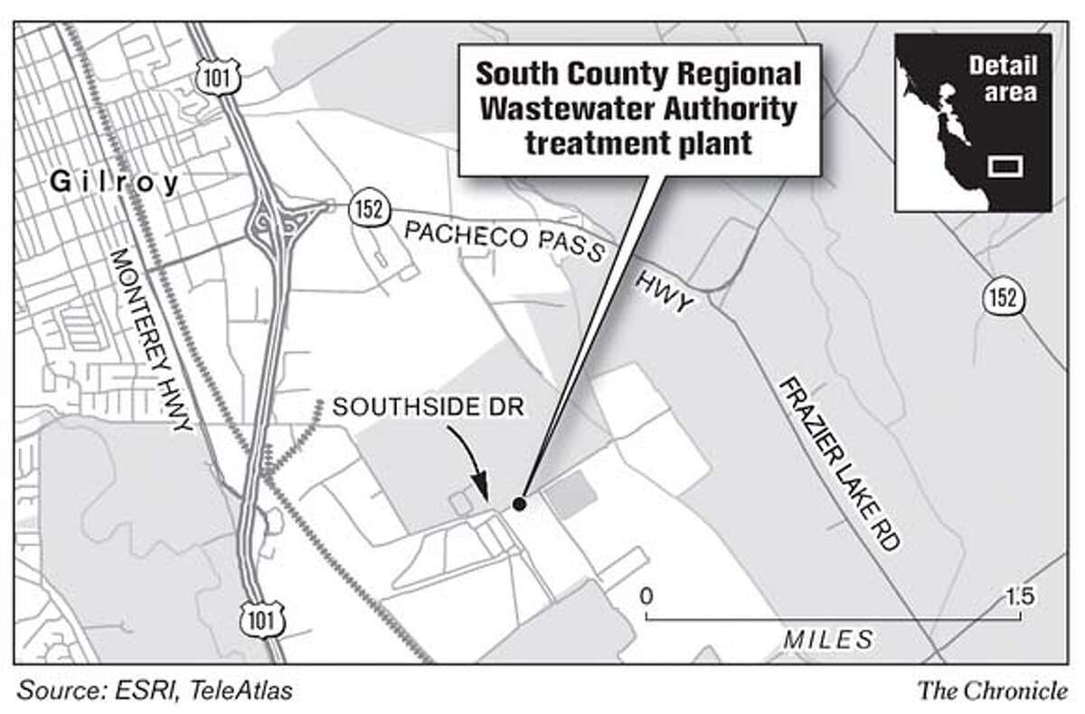 South County Regional Wastewater Authority Treatment Plant. Chronicle Graphic