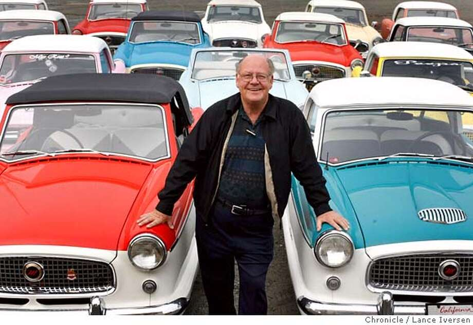 NASHCARXX_3238.JPG  Wayne Metz of Antioch, a real estate broker who collects Nash Metropolitan cars. These small, quirky cars were built from 1954 to 1961, then the firm folded. Wayne has 30 of them, said to be the largest such collection in the US and all are in working order. DECEMBER 12, 2006  PITTSBURG.  By Lance Iversen/San Francisco Chronicle MANDATORY CREDIT PHOTOG AND SAN FRANCISCO CHRONICLE/ MAGS OUT Photo: By Lance Iversen