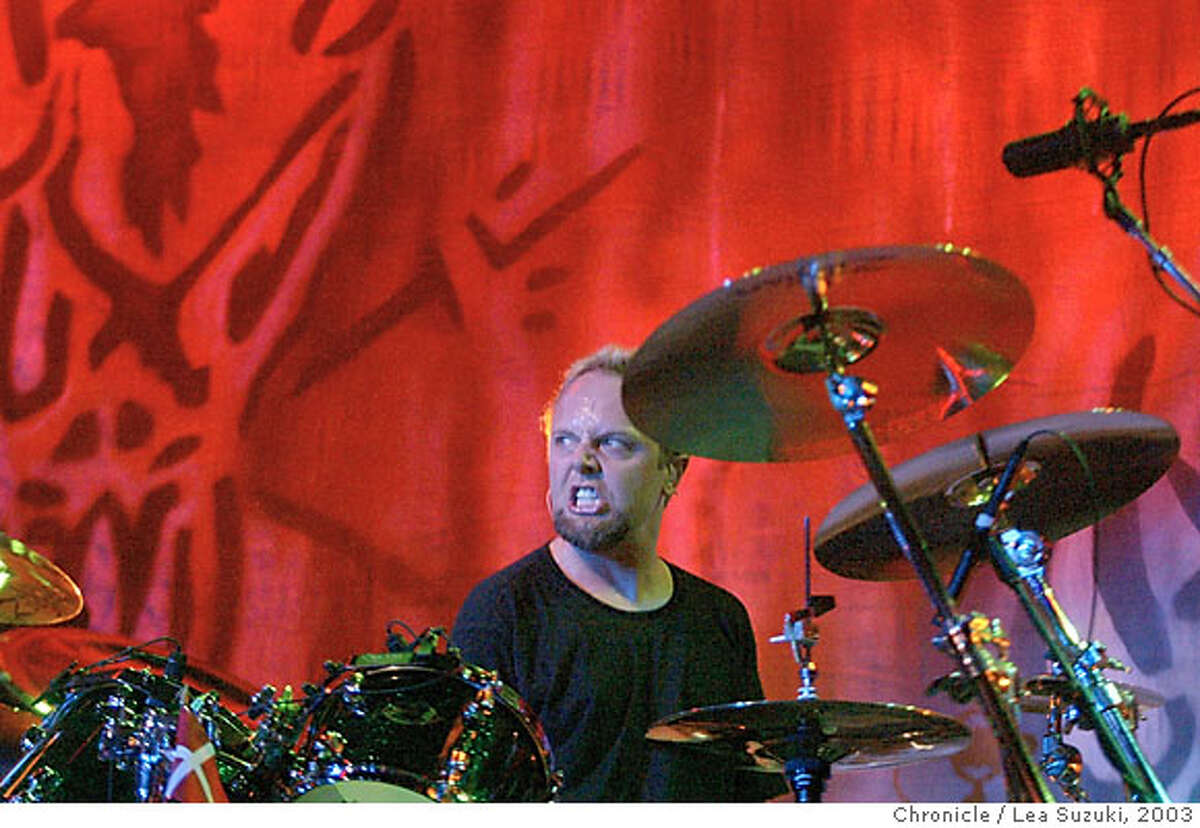 metallica086_ls.jpg Metallica performs at the Fillmore on 5/18/03 in San Francisco. Lars Ulrich. LEA SUZUKI / The Chronicle Ran on: 06-20-2004 MANDATORY CREDIT FOR PHOTOG AND SF CHRONICLE/ -MAGS OUT