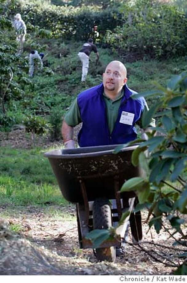 JA_SHEFFERMAN_0034_KW_.jpg Recent Jefferson award winner, Dave Shefferman, for his work as co-founder of the One Brick foundation works alongside other volunteers at Golden Gate Park's Rhododendron garden Sunday December 3, 2006 in San Francisco. Kat Wade/The Chronicle Mandatory Credit for San Francisco Chronicle and photographer, Kat Wade, Mags out Photo: Kat Wade