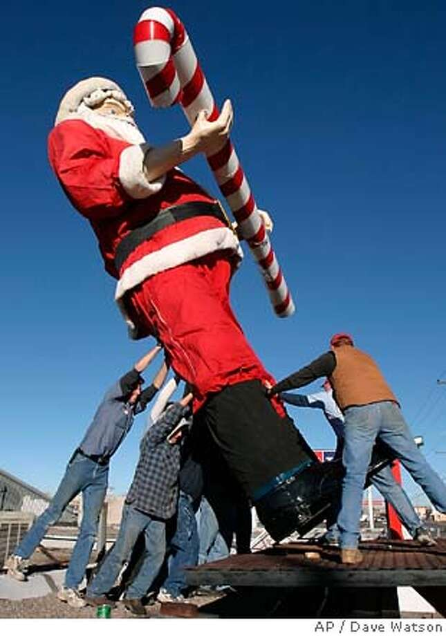 Many Czechs resent the imposition of Santa Claus into their Christmas tradition. Associated Press photo by Dave Watson