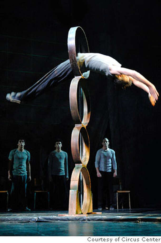 Will Underwood in a four-high hoop diving act  Photo courtesy: Circus Center Photo: Photo Courtesy: Circus Center