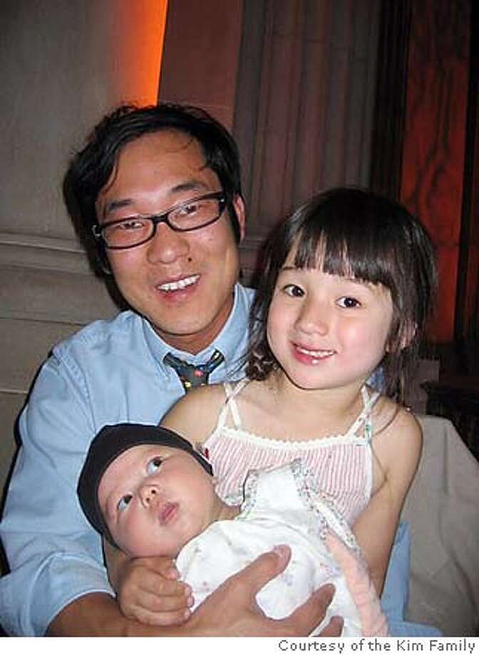 Man is James Kim, older girl is daughter Penelope and younger girl is daughter Sabine.  Ran on: 12-03-2006  James Kim, with his daughters Penelope (middle) and Sabine. His wife, Kati, is not shown. The family didn't show up at their hotel in Gold Beach in Curry County on Nov. 25.  Ran on: 12-03-2006  James Kim, with his daughters Penelope (middle) and Sabine. His wife, Kati, is not shown. The family didn't show up at their hotel in Gold Beach in Curry County on Nov. 25.  ALSO Ran on: 12-05-2006  James Kim and his family became stranded on a road they may not have known was dangerous.  Ran on: 12-05-2006  James Kim and his family became stranded on a road they may not have known was dangerous.  Ran on: 12-10-2006  Search crews head down Bear Camp Road in Oregon on Tuesday, in an effort to find James Kim.  Ran on: 12-10-2006  Search crews head down Bear Camp Road in Oregon on Tuesday, in an effort to find James Kim.  Ran on: 12-10-2006  Search crews head down Bear Camp Road in Oregon on Tuesday, in an effort to find James Kim.  Ran on: 12-17-2006  Despite the high-tech gear on hand, searchers could not find James Kim before he died. Photo: Courtesy Of The Family
