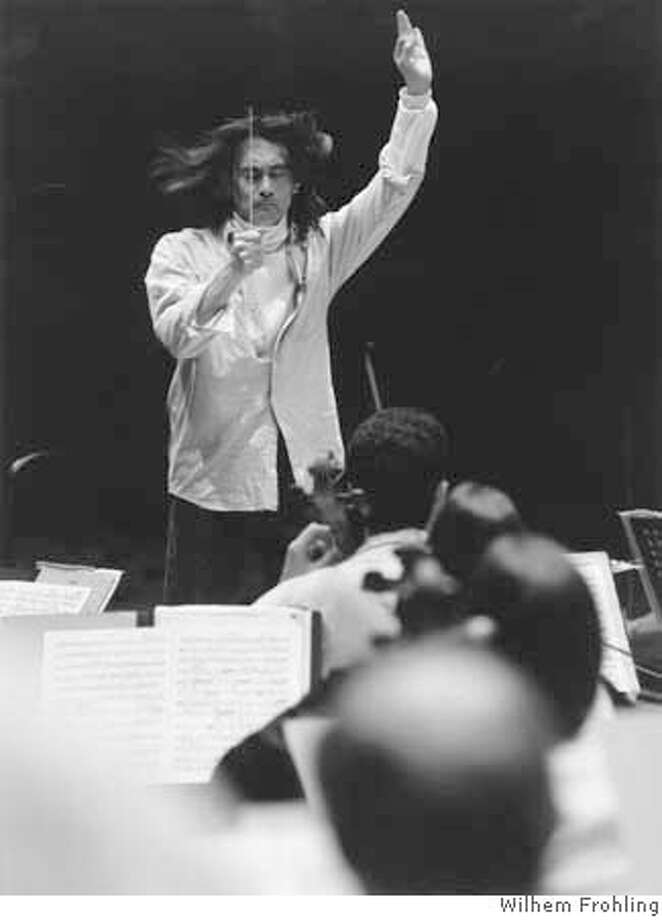 Photo of music director Kent Nagano conducting the BSO. Photo by Wilhem Frohling Ran on: 05-12-2005  Kent Nagano, music director of the Berkeley Symphony. Photo: Wilhem Frohling