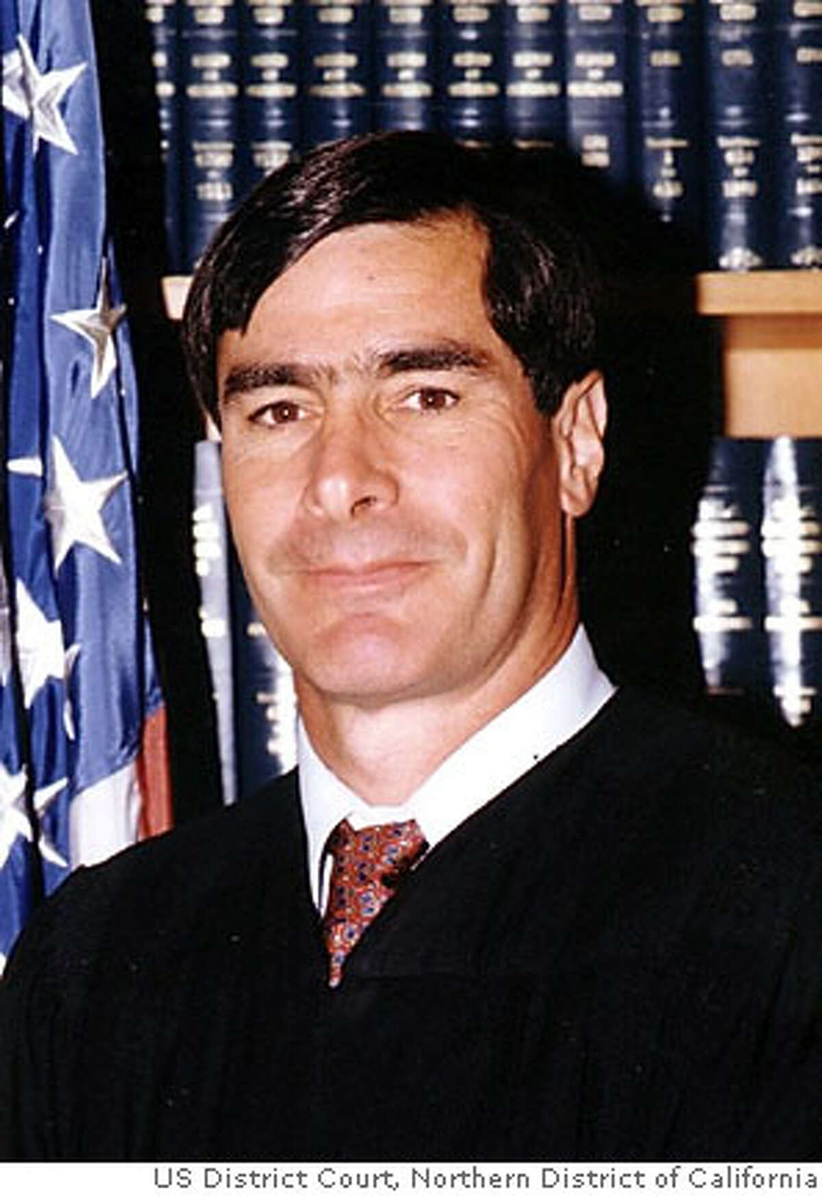 U.S. District Judge Jeremy Fogel is shown in an undated handout photo. Fogel warned that he may postpone California's chaotic Oct. 7 recall election over voting rights questions, and ordered one county to refrain from mailing out overseas ballots until the questions are resolved. The new uncertainty came Friday, Aug. 15, 2003, as a poll showed support building for the ouster of Gov. Gray Davis, and when a billionaire adviser to candidate Arnold Schwarzenegger was widely rebuked for suggesting California property taxes are too low. (handout) ALSO RAN 8/30/2003 09/06/03, 04/22/04 Ran on: 09-26-2006 Judge Jeremy Fogel begins a hearing today on whether medical monitoring is needed for executions.