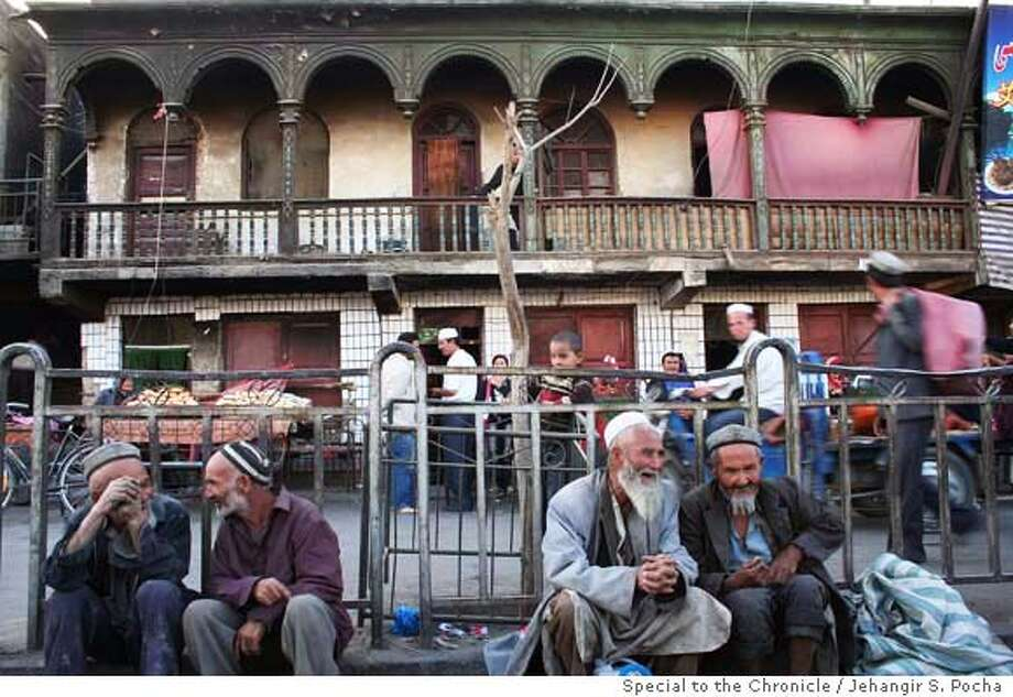 Street in Hetian. Uighur towns are often dilapidated and derelict as people remain generally poor.  Photo by Jehangir S. Pocha/Special to The Chronicle  THANKSGIVING Photo: Jehangir S. Pocha/Special To The