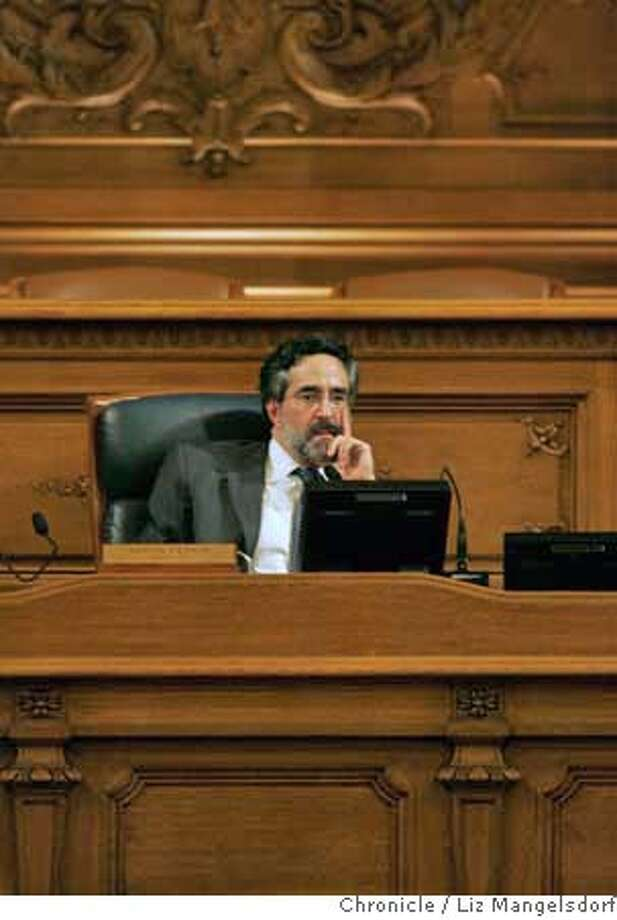 San Francisco Board of Supervisors president Aaron Peskin during a meeting discussing the 49er stadium issue on Nov. 21, 2006.  Liz Mangelsdorf / The Chronicle MANDATORY CREDIT FOR PHOTOG AND SF CHRONICLE/ -MAGS OUT Photo: Liz Mangelsdorf