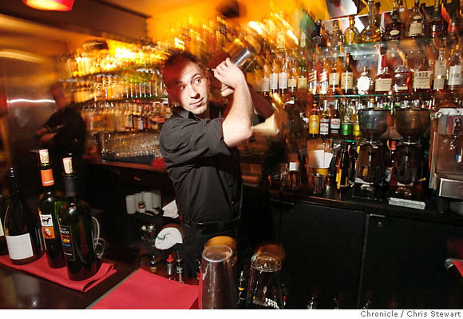 BARBITE14_0028_cs.jpg  Bartender Nicholas Danielson prepares a Sangria de Guadalupe at Fonda, 1501 Solano Avenue, Albany.  Chris Stewart / The Chronicle Fonda, BARBITES Photo: Chris Stewart