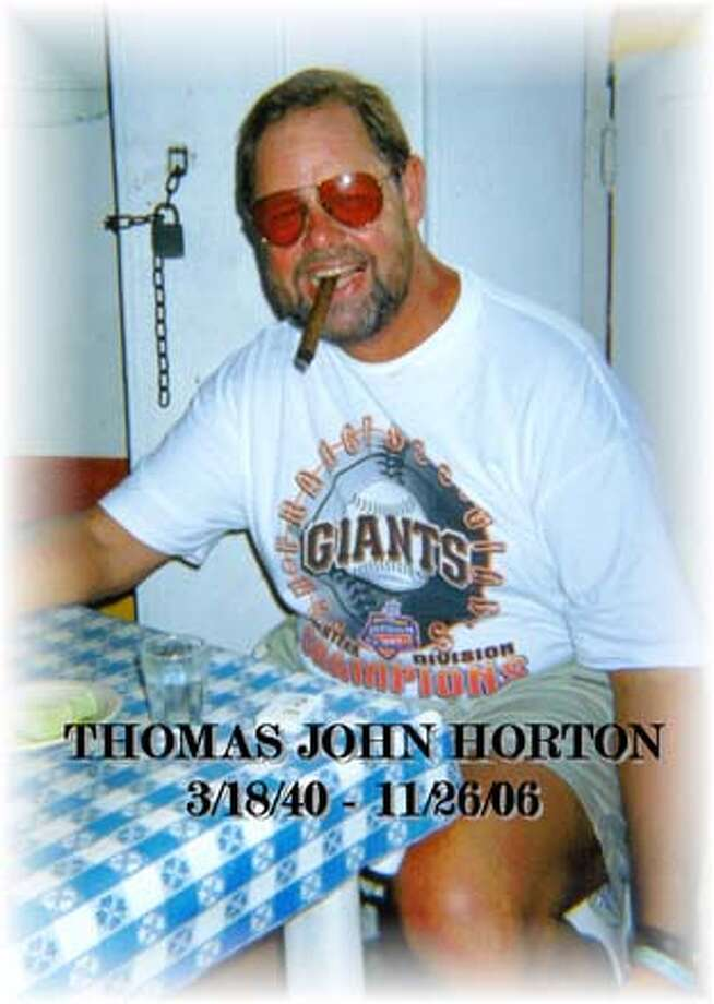 Obituary photo of Tom Horton to run tomorrow. Photo: Handout