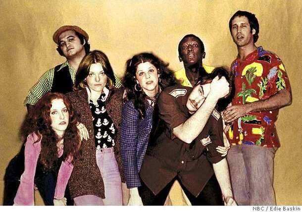 Courtesy of NBC Studios, Inc. / Photos by Edie Baskin  Ran on: 12-14-2006  &quo;SNL,&quo; back in the day: Laraine Newman (from left), John Belushi, Jane Curtin, Gilda Radner, Dan Aykroyd, Garrett Morris and Chevy Chase.