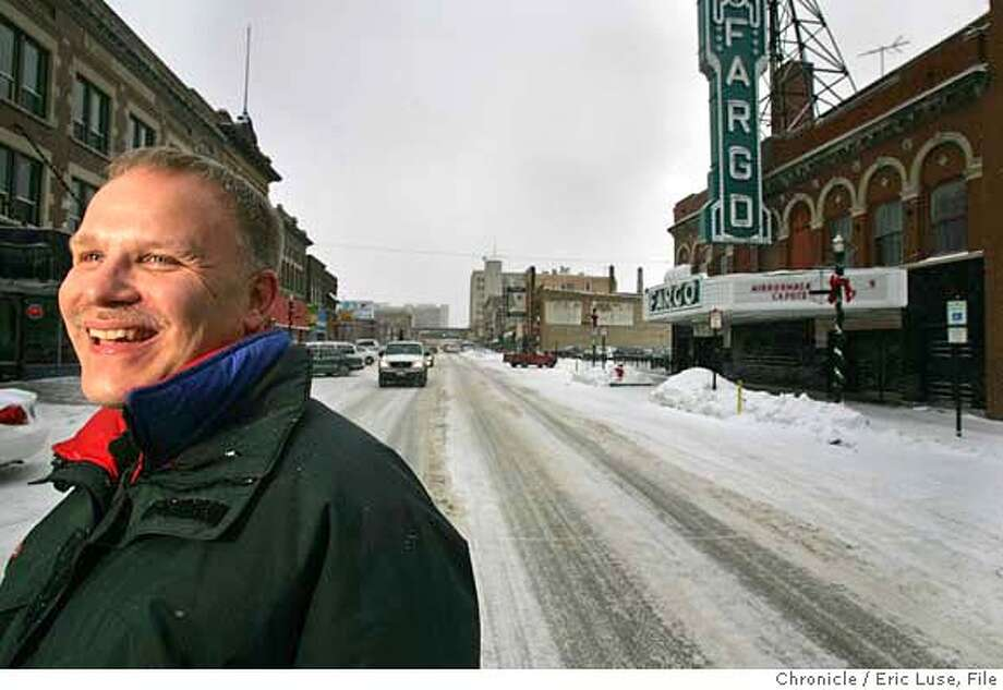 magnus_242_el.JPG  Fargo's Police Chief Chris Magnus in downtown Fargo.  Fargo's Police Chief Chris Magnus put his house on the market for $150,000 and has placed an offer on a home near Richmond's Civic Center for $500,000. Fargo's Police Chief Chris Magnus has been hired as the new chief in Richmond, CA. Photographer:� Eric Luse / The Chronicle Photo: Eric Luse