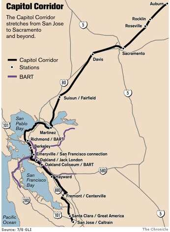 Capitol Corridor. Chronicle Graphic