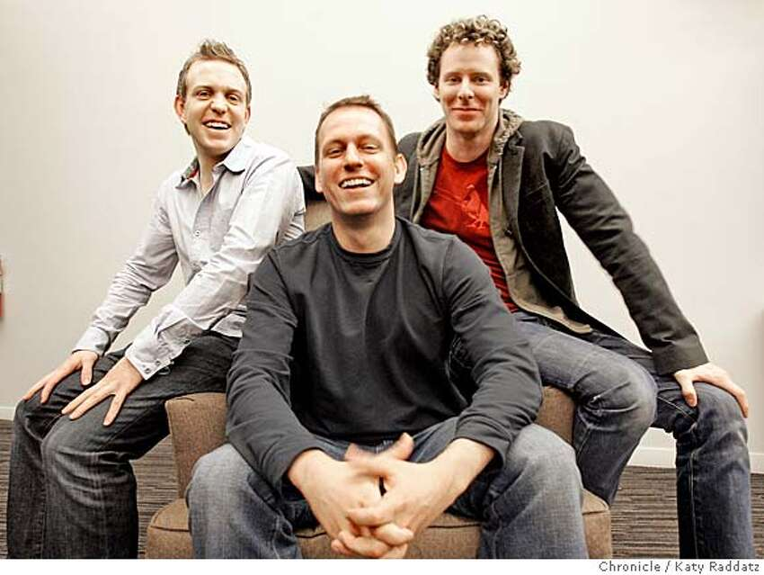 FOUNDERFUND_015_RAD.jpg SHOWN: Three of the managing partners of the Founders Fund, L to R: Ken Howery, Peter Thiel, Sean Parker. These photos were made on Monday, Dec. 11, 2006, in San Francisco, CA. (Katy Raddatz/SF Chronicle) *Ken Howery, Peter Thiel, Sean Parker Ran on: 12-13-2006 Ken Howery (left), Peter Thiel (middle) and Sean Parker (right) of The Founders Fund are all veterans of high-profile startups. Ran on: 12-13-2006 Ken Howery (left), Peter Thiel (middle) and Sean Parker (right) of The Founders Fund are all veterans of high-profile startups.