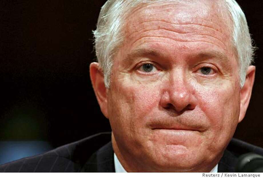 U.S. Defense Secretary nominee Robert Gates testifies before the U.S. Senate Armed Services Committee during his confirmation hearing on Capitol Hill in Washington December 5, 2006. REUTERS/Kevin Lamarque (UNITED STATES) 0 Photo: KEVIN LAMARQUE