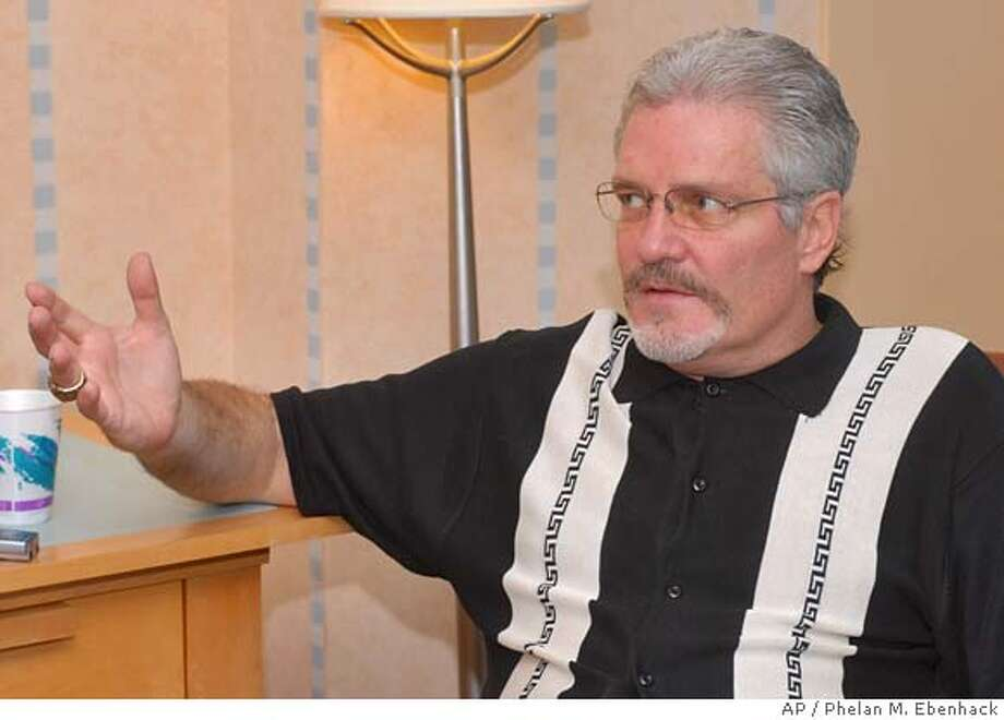 San Francisco Giants general manager Brian Sabean talks to reporters during the Major League Baseball winter meetings in Lake Buena Vista, Fla., Thursday, Dec. 7, 2006. (AP Photo/Phelan M. Ebenhack) Photo: Phelan M. Ebenhack