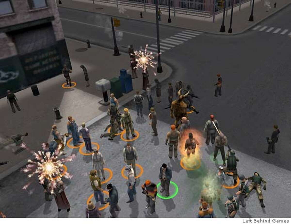 Screen grab from Left Behind Games. http://www.leftbehindgames.com/pages/media_images.php MANDATORY CREDIT FOR PHOTOGRAPHER/ - MAGS OUT
