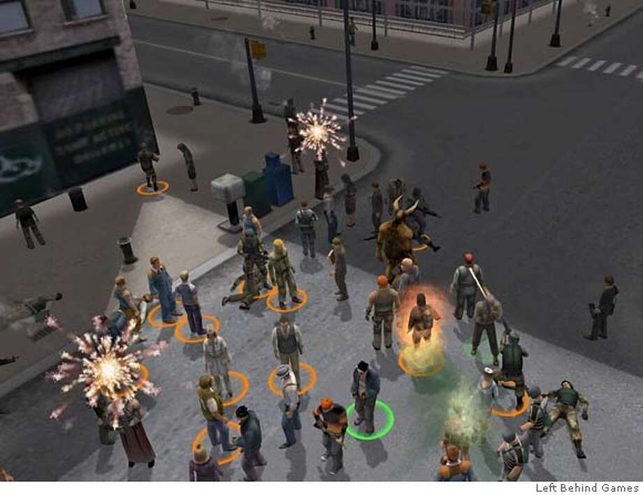 Screen grab from Left Behind Games. http://www.leftbehindgames.com/pages/media_images.php MANDATORY CREDIT FOR PHOTOGRAPHER/ - MAGS OUT Photo: Xx