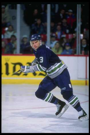 Defenseman Zarley Zalapski of the Hartford Whalers. Photo: Robert Laberge, Getty Images / Getty Images North America