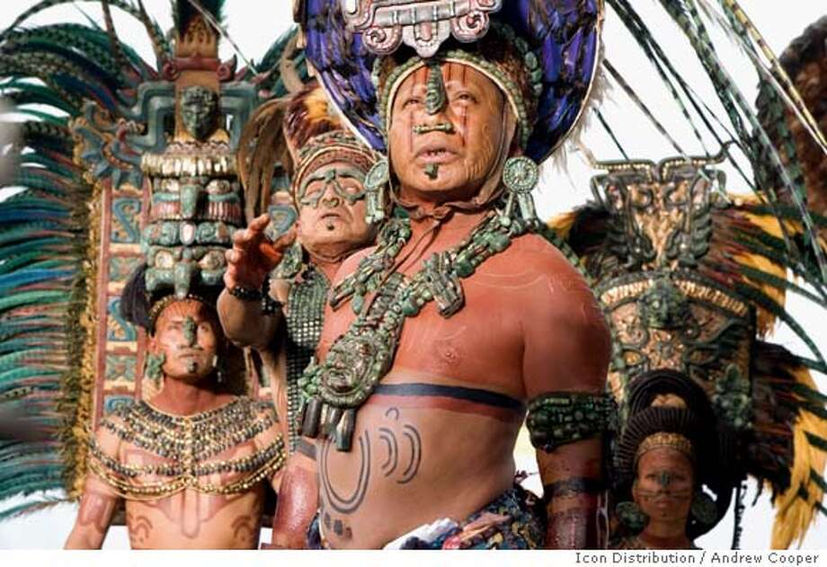 "Fernando Hernandez Perez (at right) in Mel Gibson's new film ""Apocalypto"" Copyright: �Icon Distribution, Inc., All rights reserved Photo Credit: Andrew Cooper, SMPS  Ran on: 12-11-2006  The Maya are shown to live on hunting alone in &quo;Apocalypto,&quo; even though history suggests the people were primarily agricultural.  Ran on: 12-11-2006  Protesters on Market Street  Ran on: 12-11-2006  Protesters on Market Street  Ran on: 12-11-2006  The Maya are shown to live on hunting alone in &quo;Apocalypto,&quo; even though history suggests the people were primarily agricultural. Photo: Andrew Cooper, SMPS"