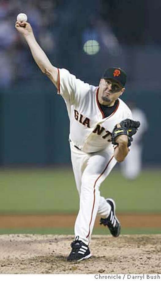 San Francisco Giants pitcher Jason Schmidt pitches in the 3rd inning vs. Los Angeles Dodgers at AT&T Park in San Francisco, CA on Friday, August 18, 2006. 8/18/06  Darryl Bush / The Chronicle ** roster (cq) Photo: Darryl Bush