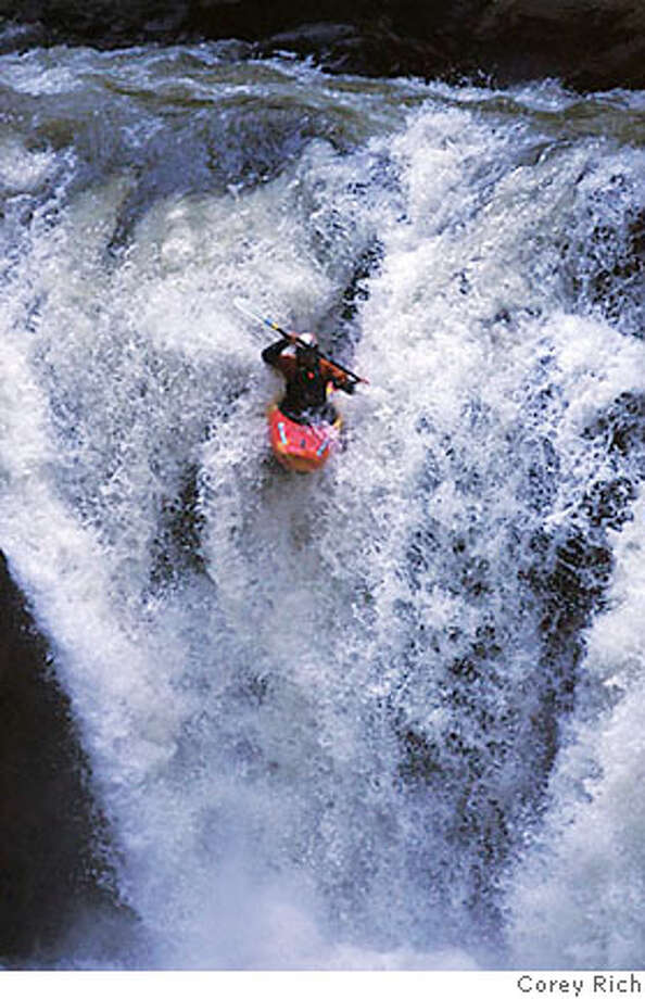 Kayaking in the Sierra.  Photo credit: Corey Rich Photo: Corey Harris