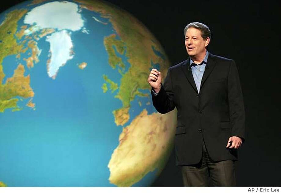 """Al Gore's movie about global warming, """"An Inconvenient Truth,"""" was apparently a financial disincentive for a science teachers group. Associated Press photo by Eric Lee"""