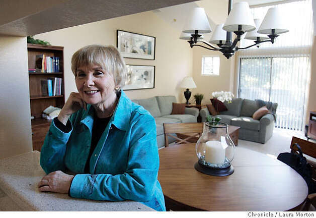Stevie Alexander, photographed at her home in Novato, CA, received help from the Season of Sharing program after going through a divorce and was able to save her home and start her own business. Photo: Laura Morton
