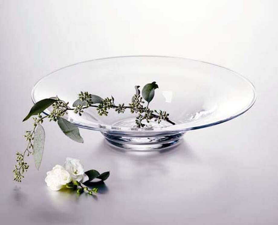 The low hanover bowl from Simon Pearce. Photo: Handout